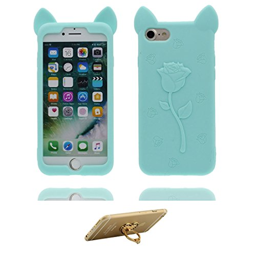 "iPhone 7 Plus Hülle, 3D Cartoon Einhorn Cover Unicorn iPhone 7 Plus handyhülle (5.5 zoll) flexible TPU Shell iPhone 7 Plus case (5.5""), Staub Rutsch kratzfest und Ring Ständer # 2"