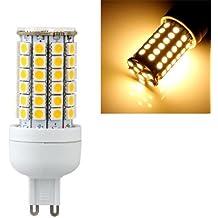 SODIAL(R) G9 8W 69 LED 5050 SMD Lampara Bombilla Foco 3000K Luz Blanco Calido AC 220V