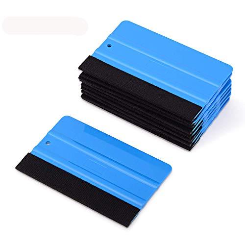 FOSHIO 10er Rakel Set mit Filzkante Filzrakel zur Verklebung von Folie Wandtattoo,Fensterfolie Tönungsfolie Rakel für auto,12cmx8cm
