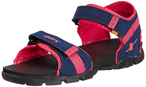 Sparx Women's Navy Blue and Magenta Fashion Sandals - 5 UK (SS0109L)  available at amazon for Rs.540