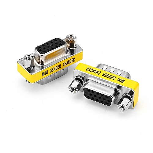 Db15-mini Gender Changer (10Pcs DB15 Mini Gender Changer Adapter Buchse auf Stecker Adapter Steckern)