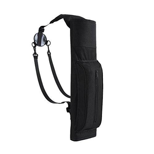 Gazechimp Bogenschießen Köcher - Pfeile Halter Pfeilköcher Rückenköcher mit Verstellbarem Schultergurt, elegant Schwarz - Pfeil Halter
