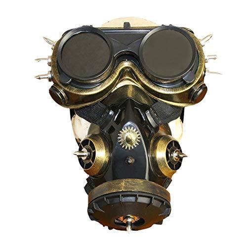 Assistenten Weiblich Kostüm - TUTOU Halloween Requisiten Geschenke, gruselig gruselig Kostüm Masken Kostümfest Steampunk Gasmaske Brille