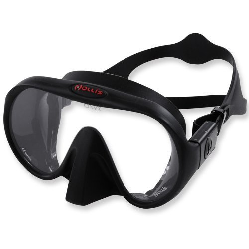 new-hollis-m-1-frameless-scuba-diving-mask-black-silicone-by-hollis
