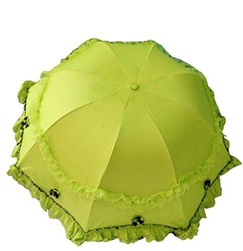 Ensoleillé Parapluie Parapluie Arche Vinyle Dentelle Parasol UV Sunscreen