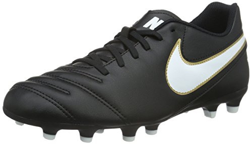 Nike Tiempo Rio Iii Fg, Scarpe da Calcio Uomo, Nero (Black/White-Metallic Goldblack/White-Metallic Gold), 42.5 EU