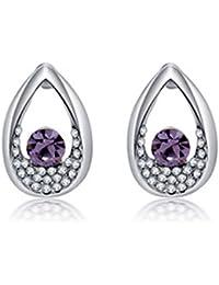 Lily Jewelry - Pendientes de plata con piedras de cristal de Swarovski