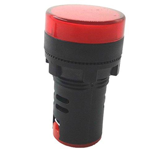 IPOTCH AD16 LED Blitz Alarmanzeige Signalleuchte Signallampe Kontrolllampe mit Summer- 22mm 24V - Rot