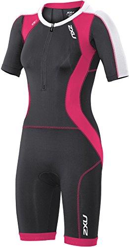 2XU Damen Compression Sleeved Trisuit Triathlon Einteiler, Ink/Chp, XS