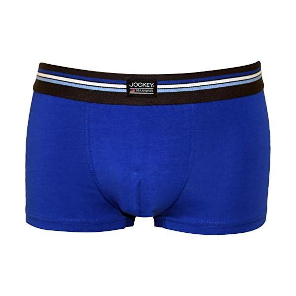 413pYR4bDtL. SS600  - Jockey 3-Pack Comprobar Los Troncos De Los Hombres Boxer En Algodón Estiramiento, Combinación Azul