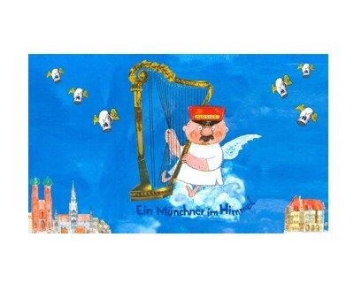 Fahne Engel Aloisius - Ein Münchner im Himmel 90 x 150 cm - Himmel Engel Kostüm