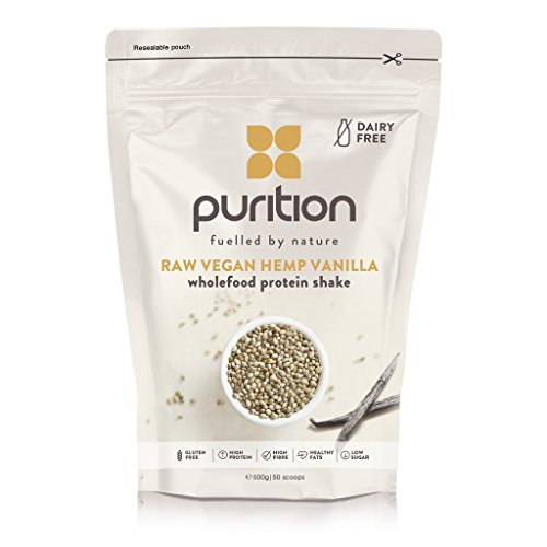 Wholefood Vegan Vanilla Protein Shake (500g) Ideal for weight loss & post exercise recovery - 100% natural meal replacement - Dairy free breakfast smoothie for men & women Test