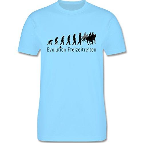 Evolution - Freizeitreiten Ausreiten Reiten Evolution - Herren Premium T-Shirt Hellblau