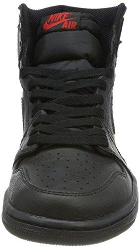 Nike Herren Air Jordan 1 Retro High OG Gymnastikschuhe Schwarz (University Red)