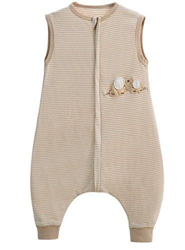 Preisvergleich Produktbild baby schlafsack sommer Frühling mädchen junge schlafanzug elefant baumwolle dünner neugeboren Pyjamas Weiß- 0.5 tog. (90CM (18-36 monate))
