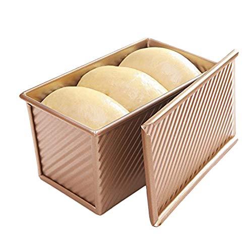 Nrpfell Brot Toast Form Antihaft-Aluminium Rotgold Plattiertes Metall 19.5X10.3X11.3Cm