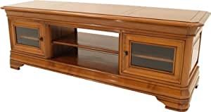 meuble tv hifi bas lcd plasma merisier cuisine maison. Black Bedroom Furniture Sets. Home Design Ideas