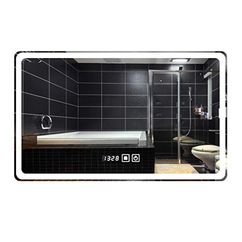 Miroirs Tenture Murale Anti-buée LED Intelligent (Color : Silver, Size : 60 * 80 * 3cm)