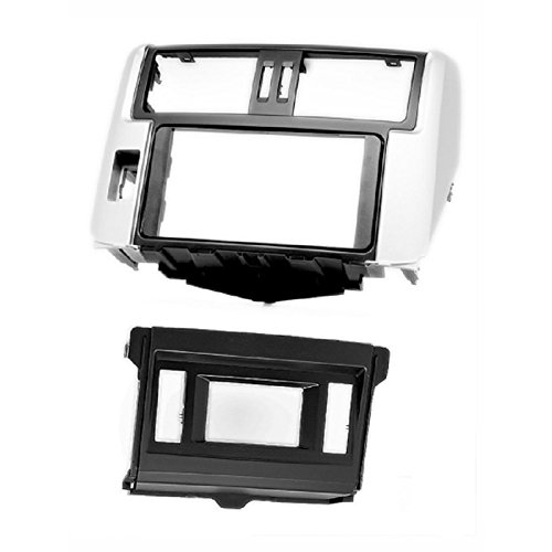 carav 11-340 Doppel DIN Autoradio Radioblende DVD Dash Installation Kit für Toyota Land Cruiser Prado (150) 2009-2013 mit 10,7 cm Display Faszie mit 173 * 98 mm und 178 * 100 mm Dash Mount Display