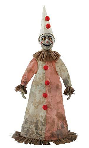 Schlendernder antiker Clown - Animierte Figur 81cm -Halloween Deko Requisite (Halloween Clown Requisiten Animierte)