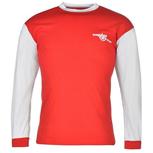 3e4647832 Arsenal FC 1971 Home Jersey Score Draw Mens Red White Retro Football Soccer  Top Large. Men s retro football shirt