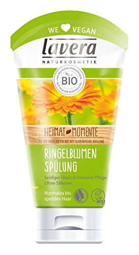 lavera Haar Spülung Ringelblume ∙ Seidiger Glanz ∙ Normale bis spröde Haare ∙ vegan ✔ Bio Haarspülung ✔ Naturkosmetik ✔ Natural & innovative Hair Care ✔ Haarpflege 2er Pack (2 x 150ml)