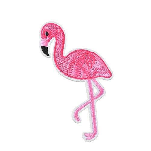probeninmappx Aufnäher Patches Abzeichen DIY Applique Eisen auf Patches Flamingo Bestickt für T-Shirt Jeans Jacken Kleidung Taschen Decor Nähen, 3 * 6 cm