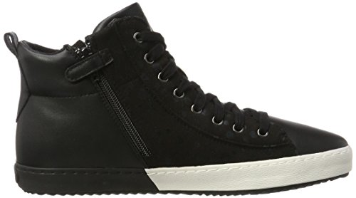 Geox J Kalispera B, Baskets Hautes Mixte Adulte Noir (Black)