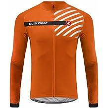 UGLYFROG #16 Magliette Uomo Manica lunga Ciclismo Magliette Inverno Style