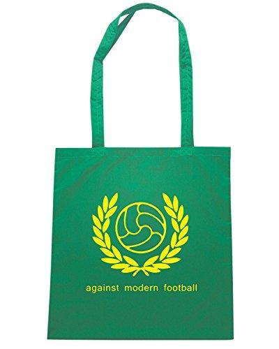 T-Shirtshock - Borsa Shopping TUM0170 AGAINST MODERN FOOTBALL Verde