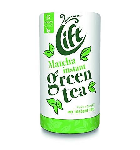 Lift Instant Matcha Green Tea Sachets (Pack of 5, Total 75)