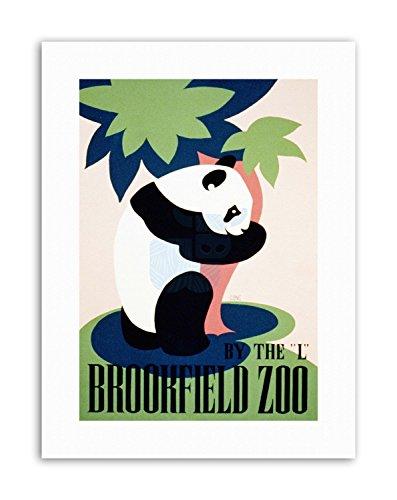 Wee Blue Coo LTD Cultural Brookfield Zoo Panda USA Poster Vintage Cultural Canvas Art Prints