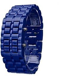63e5a5d662f6 Beisoug New Iron Samurai Brazalete de Metal Reloj Lava Relojes Digitales LED  Hora Hombres Mujeres