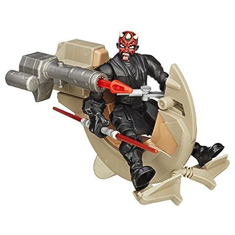 Disney Star Wars Spielzeug–Hero Stampfern–Darth Maul und Sith Speeder Deluxe Action (1 Anakin Skywalker Action-figur)