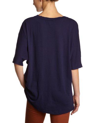 Bobi Damen T-Shirt 525-08022, V-Ausschnitt Blau (Rockstar)