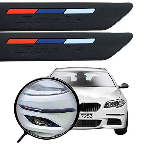 Blizim 2 Piezas Coche Protector de Parachoques Delantero Decoración para BMW