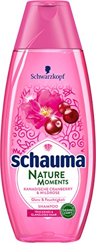 Schwarzkopf Schauma Nature Moments Shampoo, Kanadische Cranberry und Wildrose Shampoo, 5er Pack (5 x 400 ml)