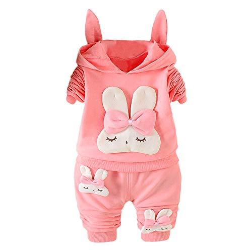 Shopaholic0709 Babykleidung,(12M-3Y) 123456 Kinder Langarm Cartoon Bunny Drucken -