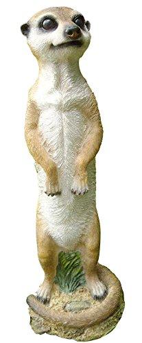 Erdmännchen stehend Deko Gartenfigur Tierfigur Wetterfest 12x11x37,5 cm