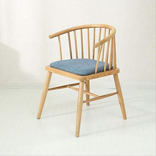 TX ZHAORUI Bois Massif Chaise À La Maison Chaise Simple Hôtel Bar Restaurant Salon Blanc Chaise en Chêne,Blue