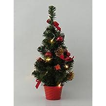 Best Season LED albero di Natale 45cm rosso con 10LED bianco caldo