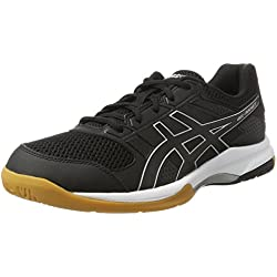 Asics GEL-Rocket 8, Chaussures de Volleyball homme - Noir (Black/Black/White 9090), 42 EU