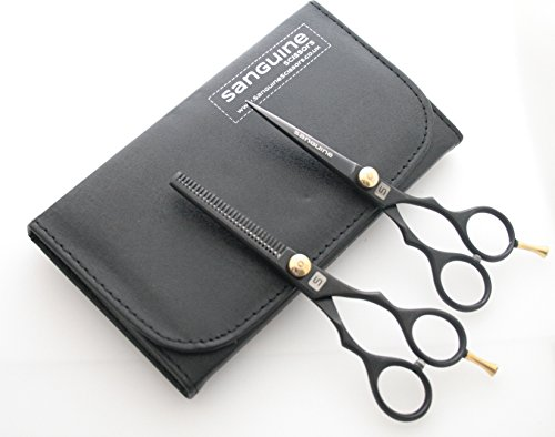 Professional Hair Scissors AND Hair Thinning Scissors SET, 5.5 inch, plus Presentation CASE Test