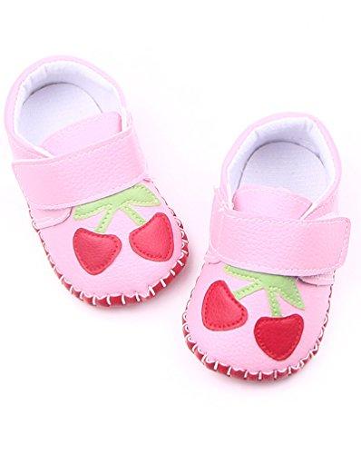 CHENGYANG Sneaker Semelles Souples - Chaussures Outdoor pour Bébé Fille pink