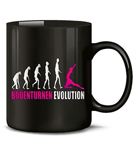 Golebros Bodenturnen Evolution Sport 586 Geburtstag Geschenk Fun Tasse Becher Kaffeetasse Kaffeebecher Schwarz-Pink