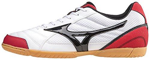 Scarpe da calcetto indoor, MIZUNO SALA CLUB 2 IN BIANCO-ROSSO Q1GA155109 Bianco