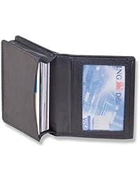 Rimbaldi - Etui für Kredit-/ oder Visitenkarten aus weichem, naturbelassenem Kalbsleder in Schwarz