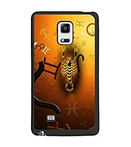PrintDhaba Scorpio D-4276 Back Case Cover for SAMSUNG GALAXY NOTE 4 (Multi-Coloured)