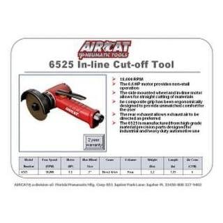 AIRCAT AIRCAT 6525 3 Inline Cut-Off Tool, Compact, Red & Black by AirCat