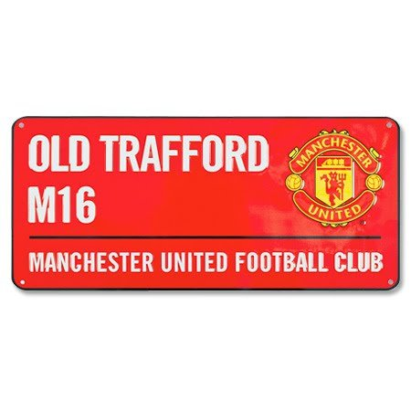 MANCHESTER UNITED FC Manchester United Colour Street Sign - Multi-Colour